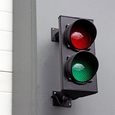 semafor cu leduri pentru usa de garaj industriala